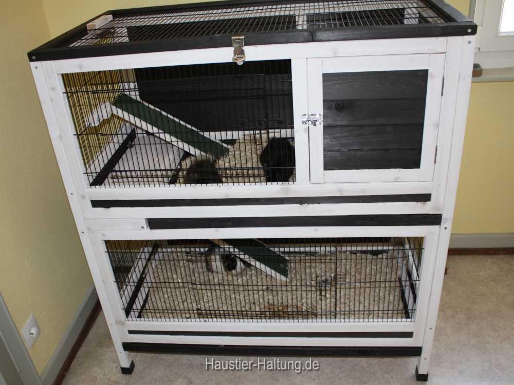 Großer Käfig für Meerschweinchen mit 2 Etagen